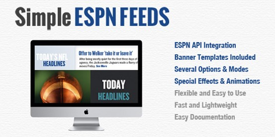 JQuery Simple ESPN Feeds - UniFormJS